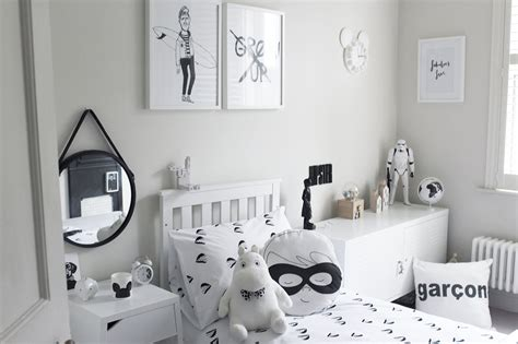 Jonnie's Monochrome Boy's Bedroom  Rock My Family Blog