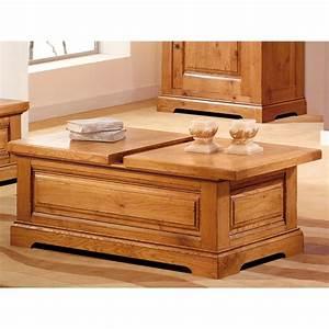Table Basse Coffre Bar : table basse coffre bar en ch ne massif ~ Teatrodelosmanantiales.com Idées de Décoration