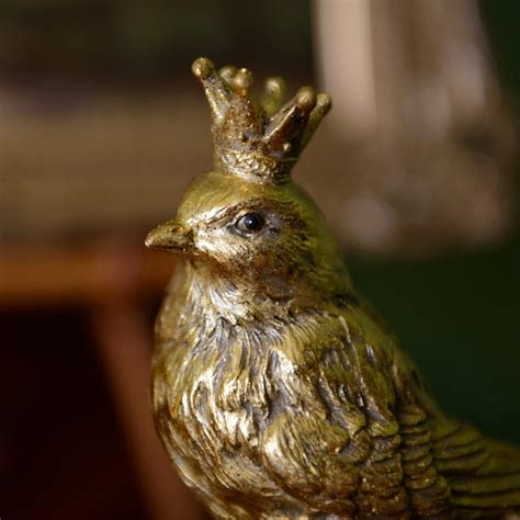 gold resin bird  crown decorations  gisela graham