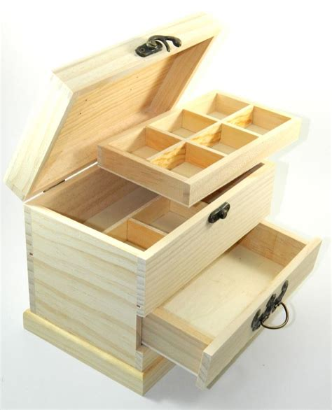 design your own wood drawer box diy unfinished sewing trinket jewelry craft ebay