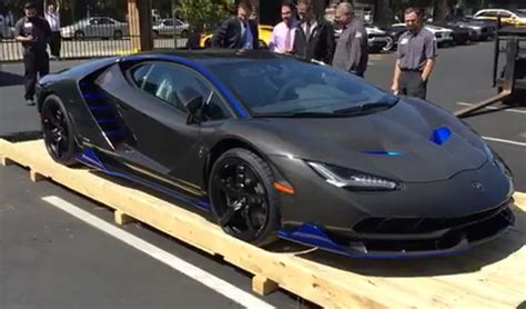 lamborghini centenario first lamborghini centenario arrives in the united states