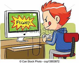 Playing Computer Clipart