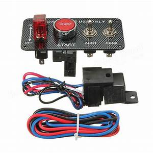 Ignition Switch Panel Led Toggle Engine Start Push Button