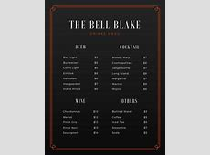Customize 246+ Bar Menu templates online Canva