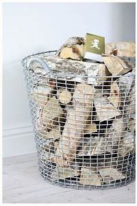 Firewood storage basket...I saw baskets like this at Home ...