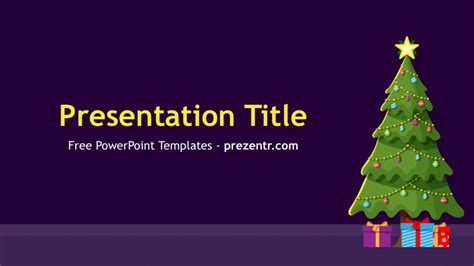 christmas tree powerpoint template prezentr