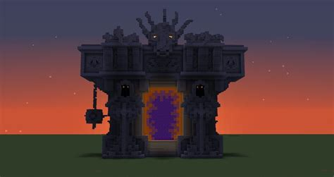 nether portal temple minecraft castle minecraft minecraft architecture