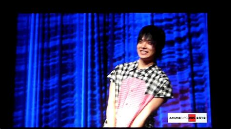 anime expo opening ceremony nobuhiko okamoto voice of rin okumura at anime expo 2012