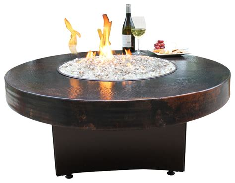 hammered copper table ls on sale oriflamme gas fire pit table hammered copper rustic