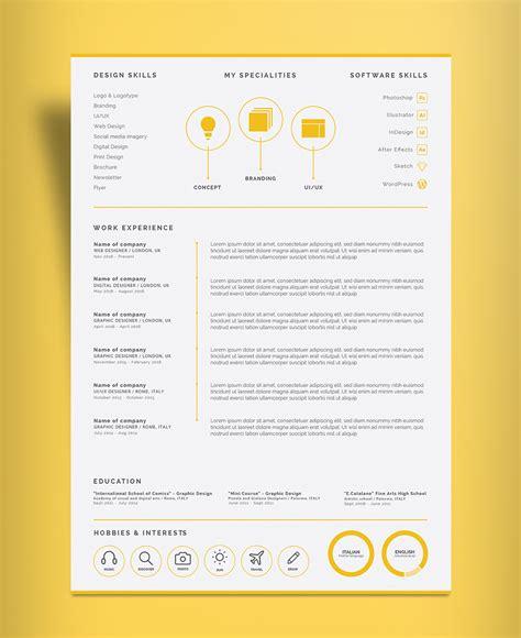 professional  page resume design cv template ai
