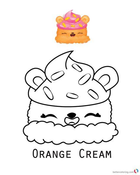 num noms coloring pages series  orange cream