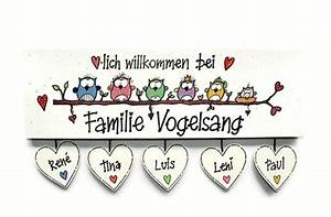 Türschild Familie Holz : t r namensschilder t rschild namensschild eulen ~ Lizthompson.info Haus und Dekorationen
