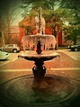Downtown New Bern fountain on a cold day this winter ...