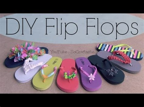 decorate sandals  summer socraftastic youtube