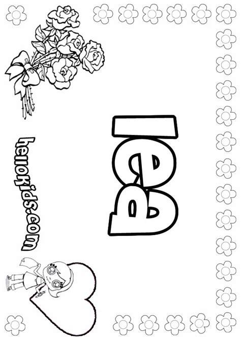 lea coloring pages hellokidscom