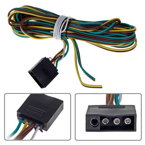 16ft 4 way trailer wiring connection kit flat wire