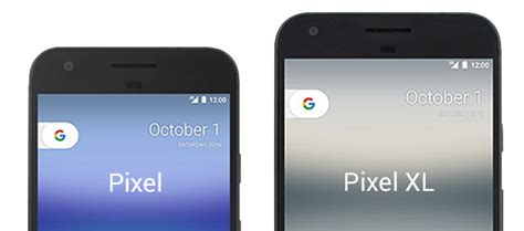 pixel and pixel xl sized up against each other and