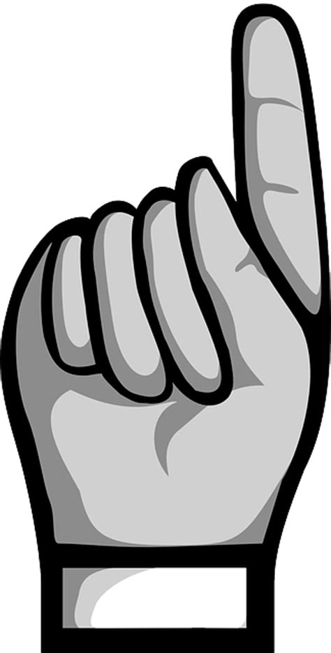 pointing finger clipart point pointing finger grey index domain