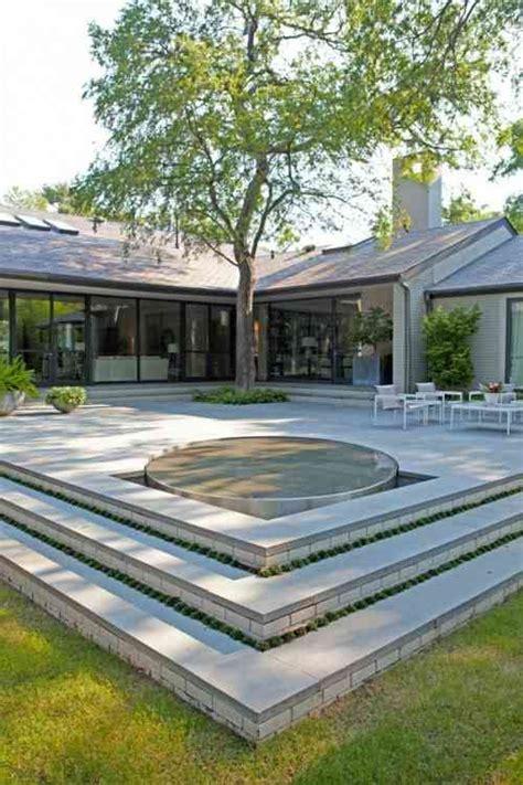 idee de decoration de terrasse avec sol en beton