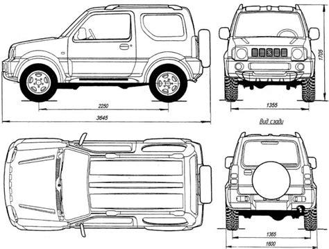 Suzuki Samurai Dimensions by геометрическая схема Suzuki Jimny с кузовом типа