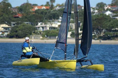 New Zealand Trimaran Drive by Sail World Boat Test Flying The Fabulous Weta