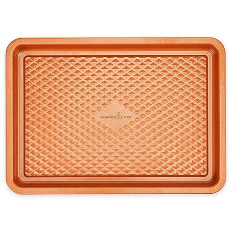 copper chef diamond bakeware cookie sheet inch nonstick bed bath canada