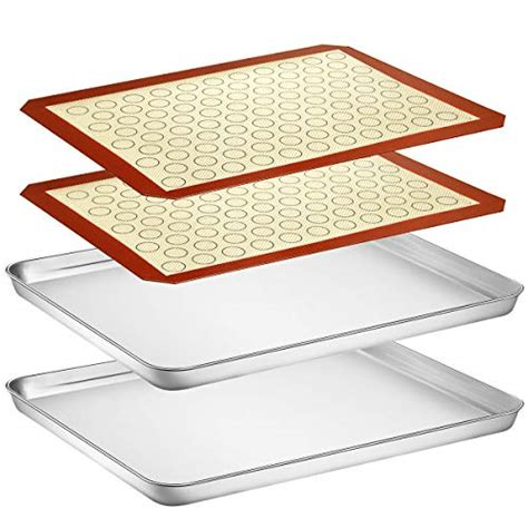 silicone baking mat sheet inch mats sheets pan cookie stainless steel toxic non duty heavy batsdeals