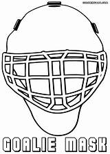 Coloring Mask Hockey Goalie Coloringway sketch template