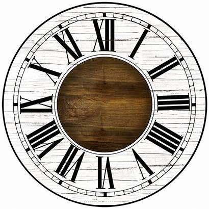 Paint Clock Blank Roman Wall Rustic Clocks
