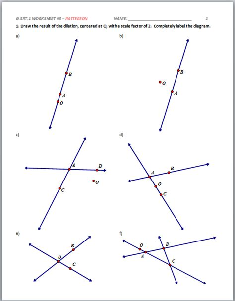 geometry construction worksheets worksheets for all