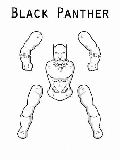Panther Coloring Pages Printable Cut Marvel Superhero