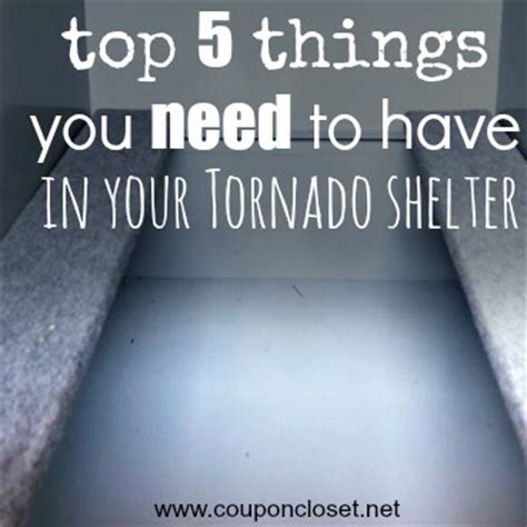 top 5 things you should put in your shelter coupon