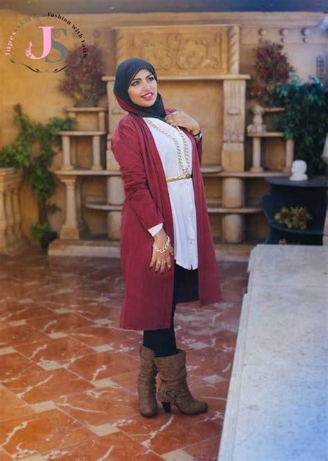 long maroon cardigan hijab winter hijab fashion