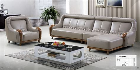 living room furniture modern  shaped leather fabric
