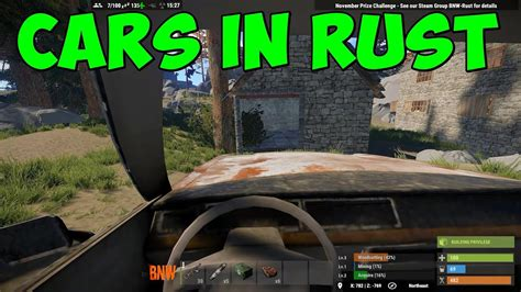 rust game garage cars parking driving
