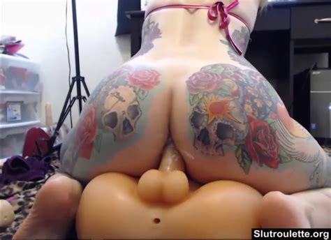 Blonde With Big Tattooed Ass Rides Plastic Doll On Gotporn