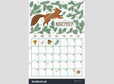 November 2018 Calendar Cute printable weekly calendar