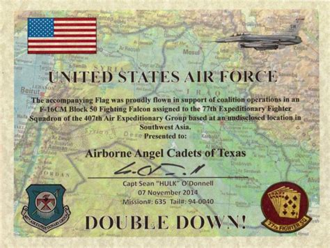 If you choose to have your flag flown over the united states capitol, please complete the following information for the certificate. Care Packages for Soldiers: Air Force Certificate & Flag ...