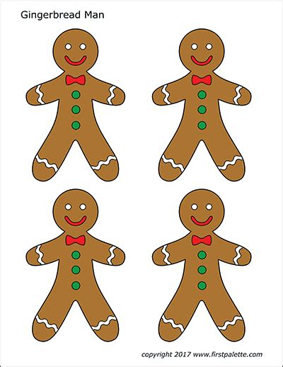 gingerbread man template printable  template