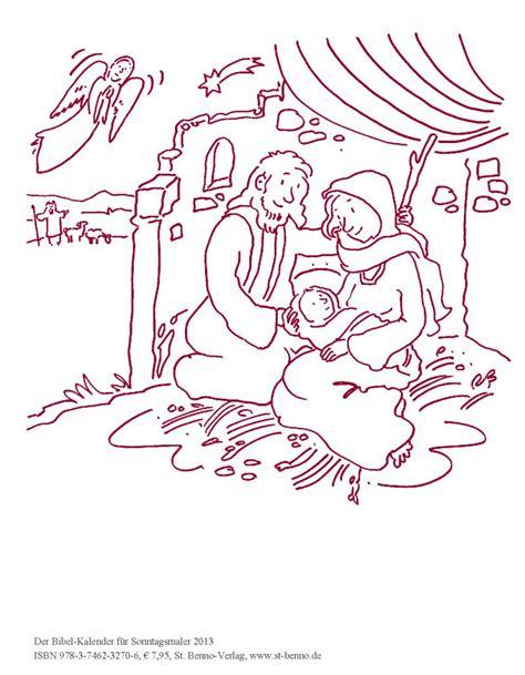 ausmalbild maria josef und jesus im stall von betlehem