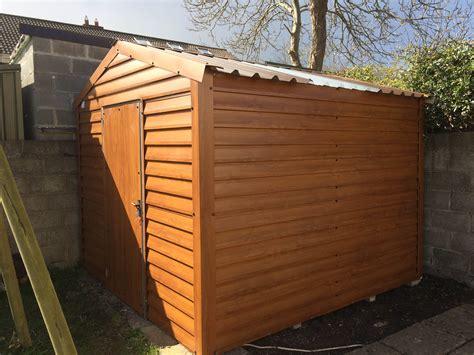 upvc pvc wood grain cladding garden sheds price size