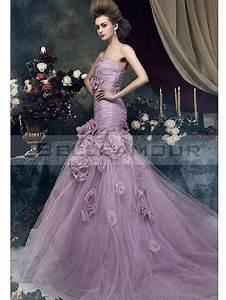 Robe De Mariée Originale : robe de mari e color e originale bustier longue fleurs ~ Nature-et-papiers.com Idées de Décoration