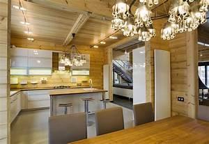 Design D U0026 39 Interieur D U0026 39 Une Maison En Bois Moderne Du Style