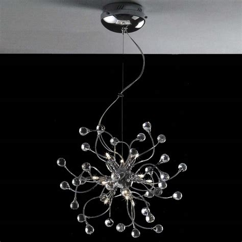 Modern Chrome Chandelier by Brizzo Lighting Stores 18 Quot Sfera Modern