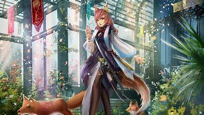 Fox Elf Ears Hair Tail Anime Pink