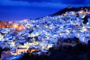モロッコ:の夜 Chefshauen, Morocco/モロッコ ...