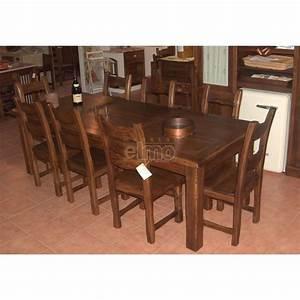 Table Chene Massif Rustique : table de salle manger rustique ch ne massif 8 10 couverts ~ Teatrodelosmanantiales.com Idées de Décoration