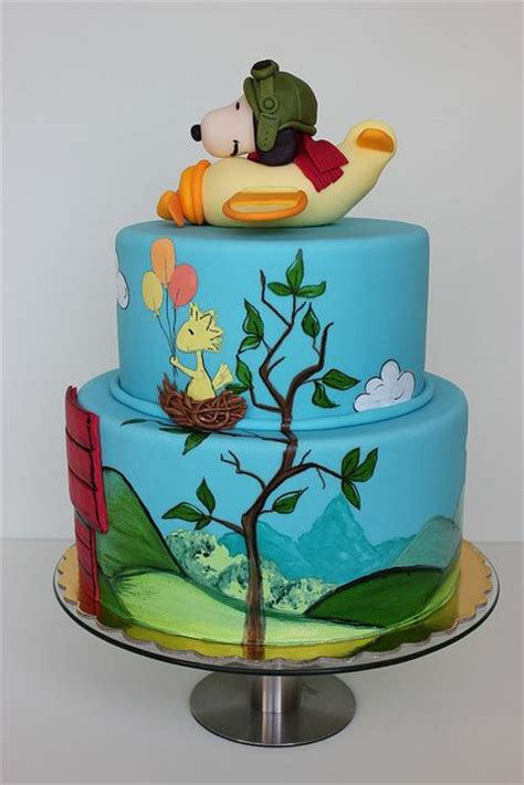 ideas  snoopy cake  pinterest drawing