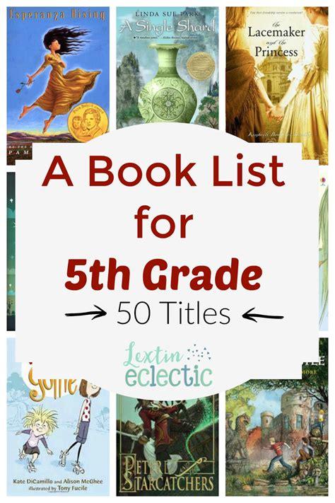 {book List} 5th Grade Reading List  Lextin Eclectic
