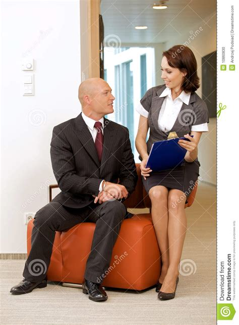 boss   secretary stock photo image  planning